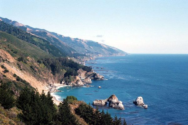 Looking South in Big Sur California, photo by Stan Russell
